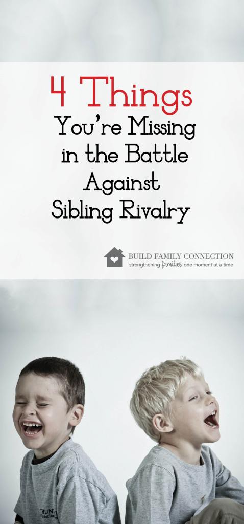 4 Things You're Missing In the Battle Against Sibling Rivalry