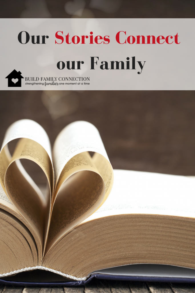 Research teaches us that our family stories actually connect us. Come see how.