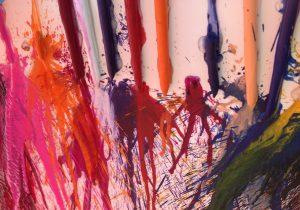Melted Crayon up close