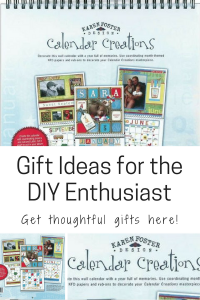Gift Ideas for the DIY Enthusiast DIY-er DIY lover blank wall calendar