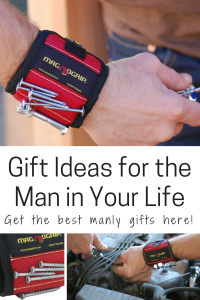 Gift ideas for the man in your life magnetic wristband handyman tools nails