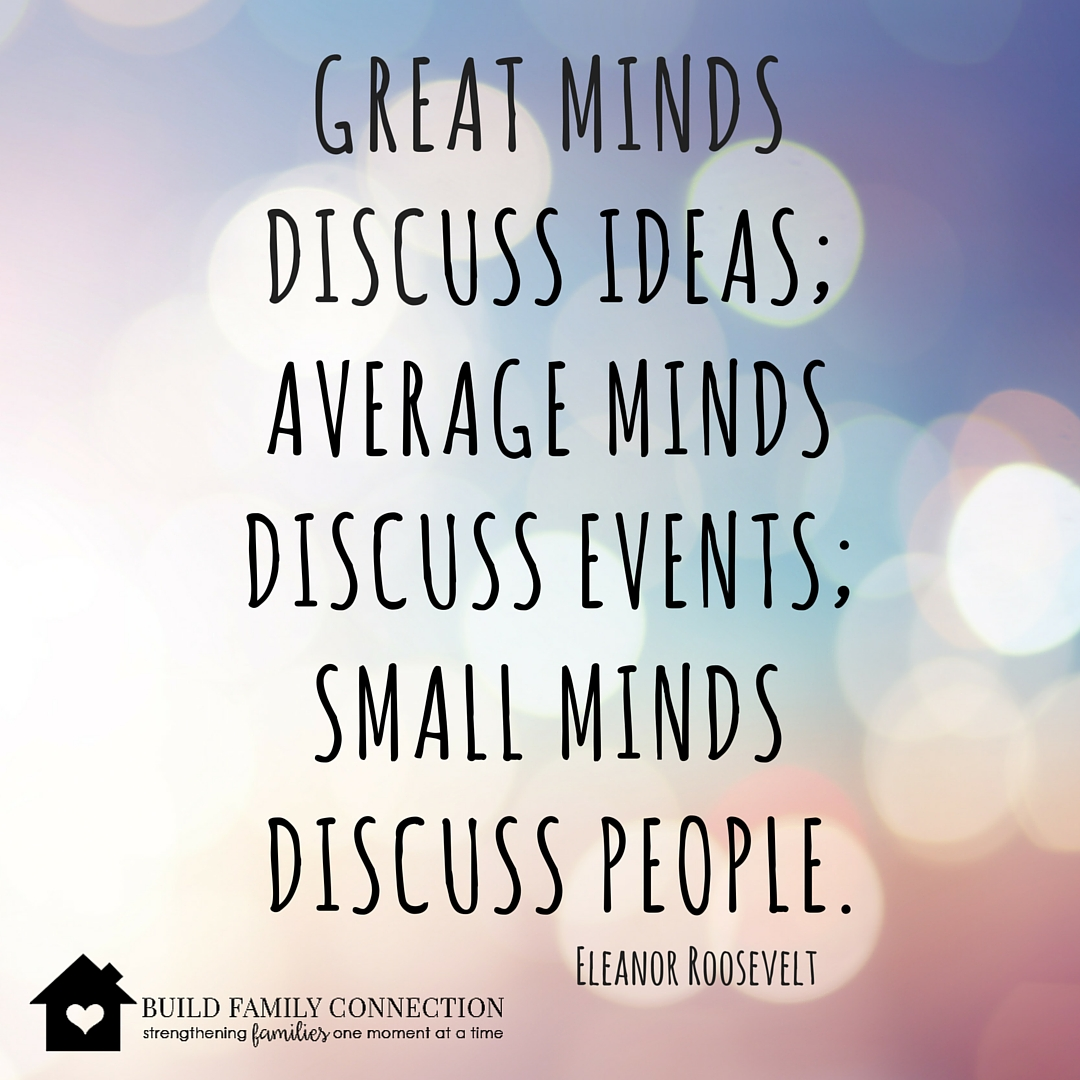 Great Minds Discuss Ideas Eleanor Roosevelt Quote Inspiration