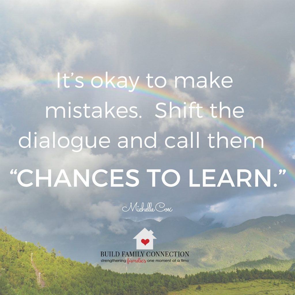 Sometimes we mess up and that's ok.  It doesn't mean we have failed.  How else can we learn?