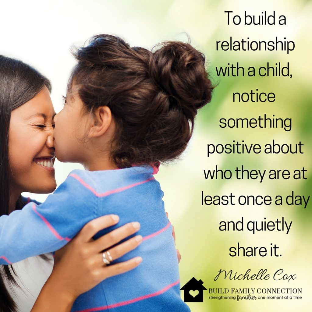 Try acknowledging your child for who they are not the things they do for a change.